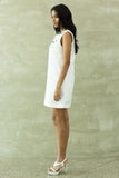 White Linen Shift Dress