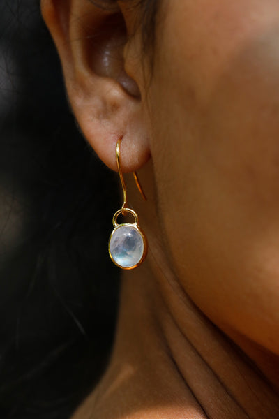 Rainbow Moonstone Earrings A