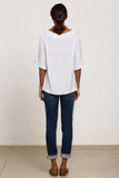 White Viscose tunic top