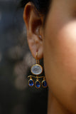 Rainbow Moonstone & Kyanite Earrings LS001FM009