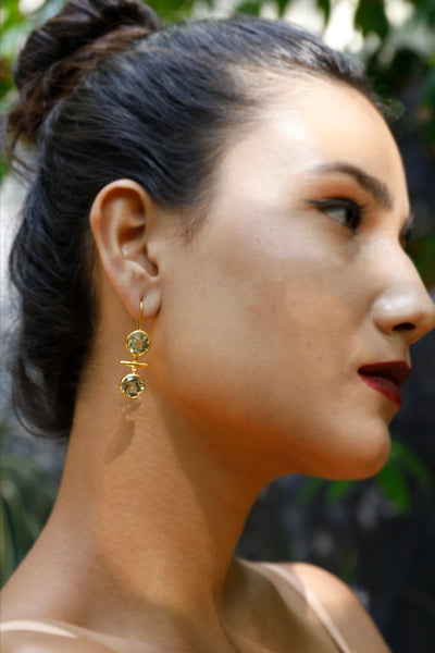 Green Gold Earrings