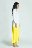 AMANDA Yellow dip-dye kaftan dress