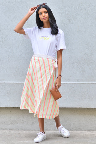 Wrap Skirt With Side Slit