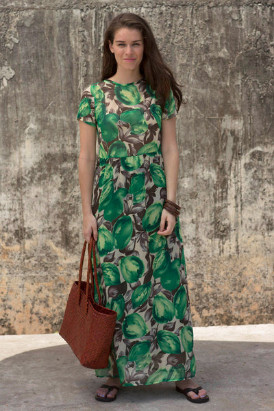SHAY Green Floral Maxi Dress