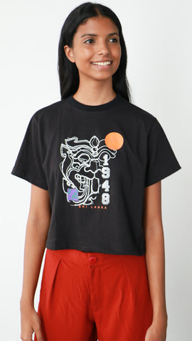 1948 Sri Lankan Makara Crop T-Shirt