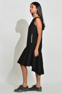 Aurelio Flown Black Dress
