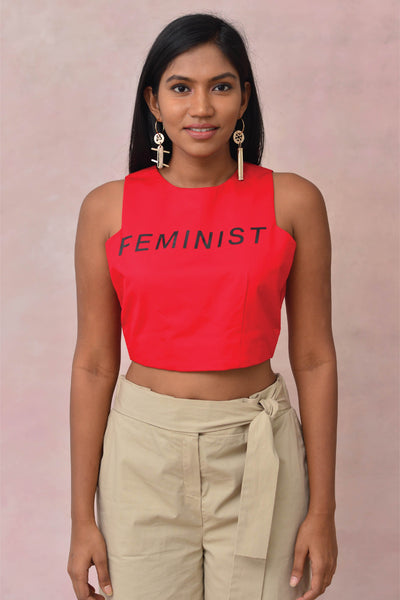 Feminist Crop Blouse