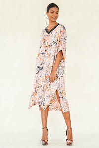 Autumn Rhythm Batik Dress