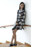 Plaid Handwoven Shirt Dress