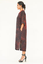 Load image into Gallery viewer, Autumn Rhythm Viscose Batik Dress