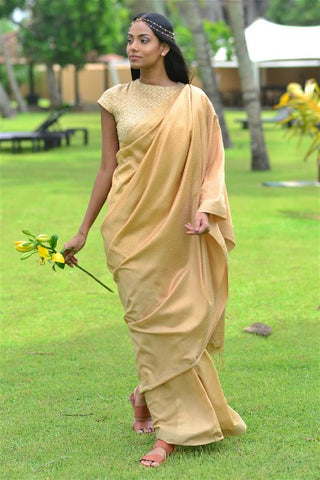 Urban Drape Maple Gold Saree -Shipping From 17th September
