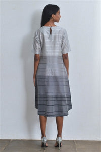 Dip Hem Handloom Dress