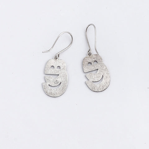 Sinhala letter earrings
