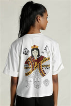 Load image into Gallery viewer, Queen Of Clubs White T-Shirt
