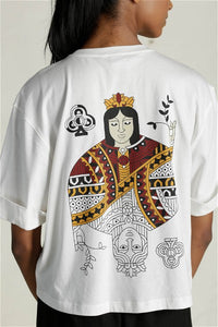 Queen Of Clubs White T-Shirt