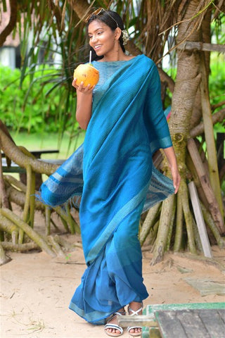 Urban Drape Ocean Waves Saree