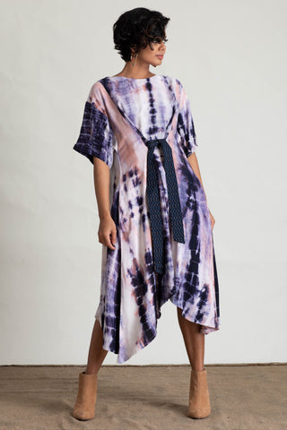 Tie Dye Asymmetrical Maxi dress