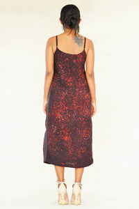 Abstract symmetry slip dress