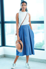 Load image into Gallery viewer, Maxi Denim Skirt