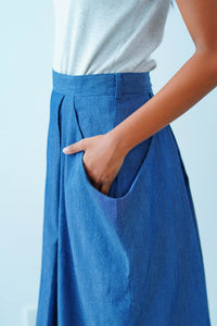 Maxi Denim Skirt