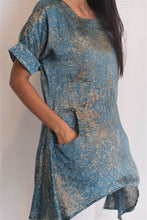 Load image into Gallery viewer, Pastel Green Silk Batik Tunic Top