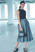 Load image into Gallery viewer, Maxi Black Denim Skirt