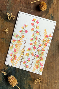 Hand Painted Garden Bloom Card
