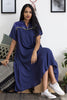 Indigo Flared Shirt Dress - Shiping  from 28th March