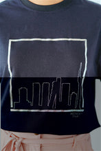 Load image into Gallery viewer, Mendes Ceylon Silver Sky Line Black T-shirt