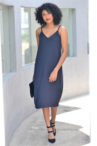 Edgy-Spirit Slip Dress
