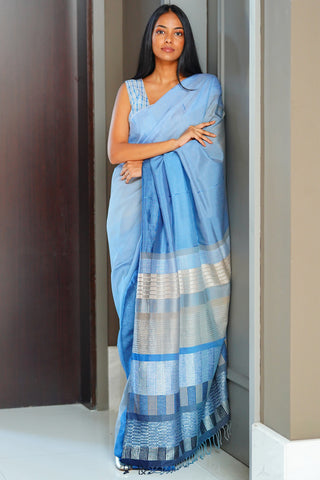 Urban Drape Mint Floss Saree