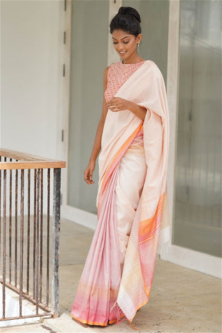 Urban Drape Soft Blush Saree