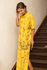 Yellow batik maxi dress