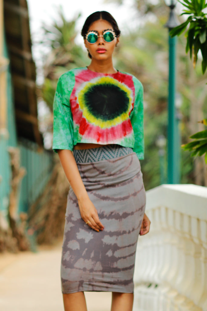 Tie Bleach Jersey Skirt - Fashion Market.LK