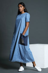 Denim Oversized ankle length dress