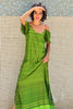 Neon Strap Green Maxi  Dress - Immediate Shipping -Order Now