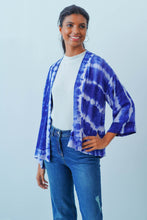 Load image into Gallery viewer, Tie Dye Kimono Sleeve Cardigan