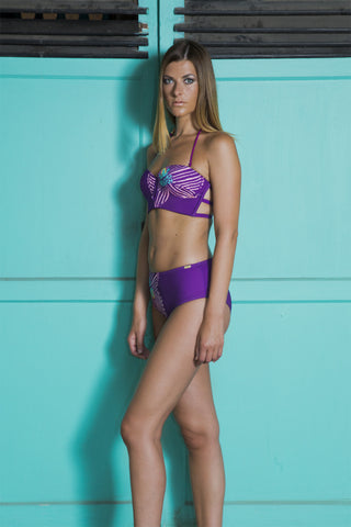 Aqua Island - Orchid Wave One-piece