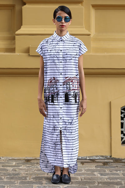 Long Batik shirt dress