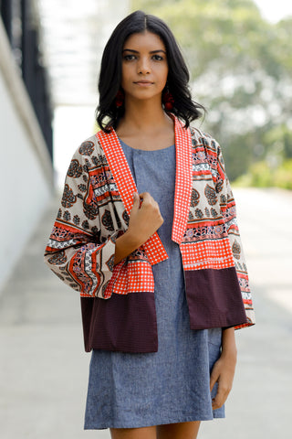 SURE Abstract Print Kimono