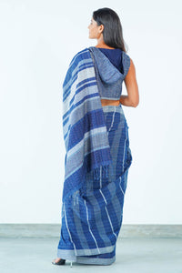 Urban Drape Indigo Denim Saree