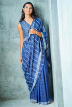 Load image into Gallery viewer, Urban Drape Indigo Denim Saree