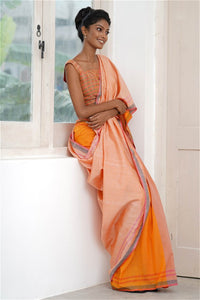 Urban Drape Spring Peach Saree