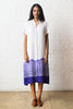 Indigo Tie Dye Batik Shirt Dress