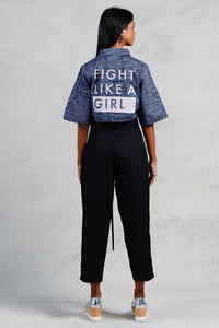 Fight Like a Girl Crop Top
