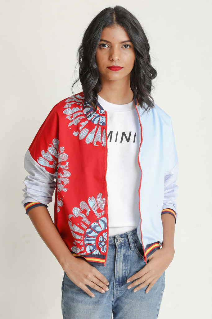 Typo Flash Bomber Jacket - Fashion Market.LK
