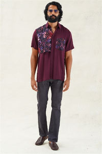 Abstract Floral Casual Short-Sleeve Shirt