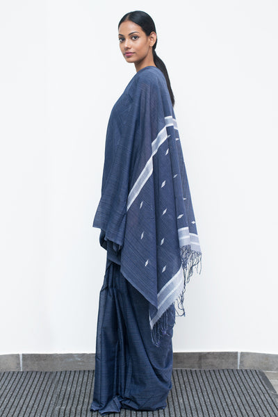 Indigo Denim Saree-Immediate Shipping -Order Now