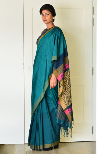 Urban Drape Emerald Feathers Saree - Fashion Market.LK