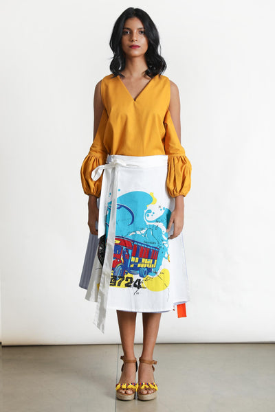 Route 99 Wrap Skirt - Fashion Market.LK